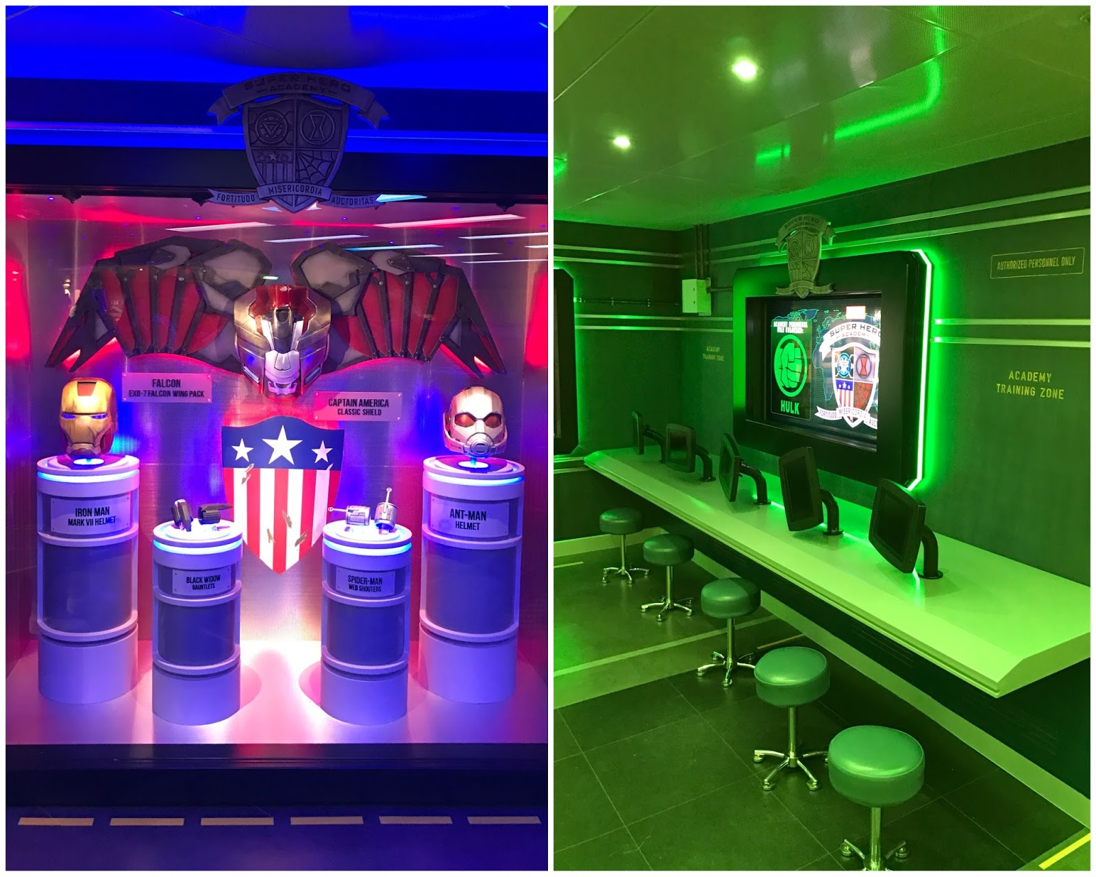 Avengers Academy Disney Wonder, Avengers Playroom at Disney Wonder, Avengers Playroom on Disney Cruise