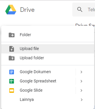 UPload File di Google Drive