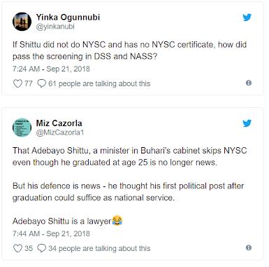 Nigerians Drags Adebayo Shittu For skipping NYSC