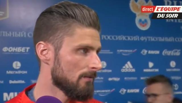 Giroud s'agace quand un journaliste le snobe pour Mbappé