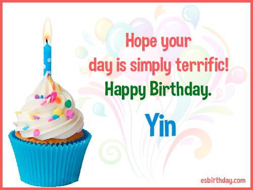 Yin Happy birthday
