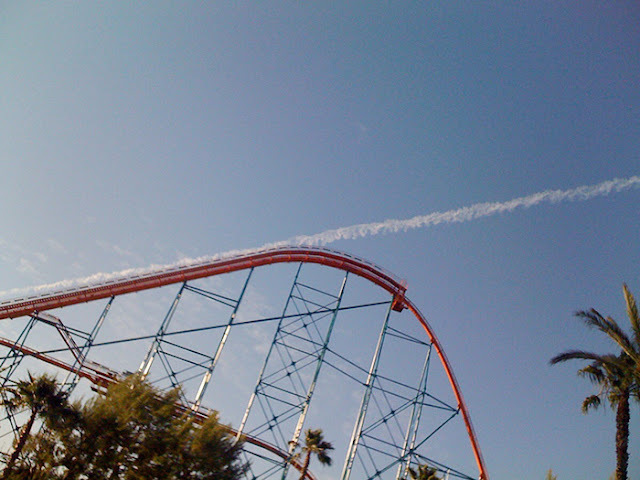 The roller Coaster Launched off Into space