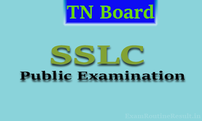 tn board sslc time table 2018 - dge.tn.gov.in 10th public exam time table