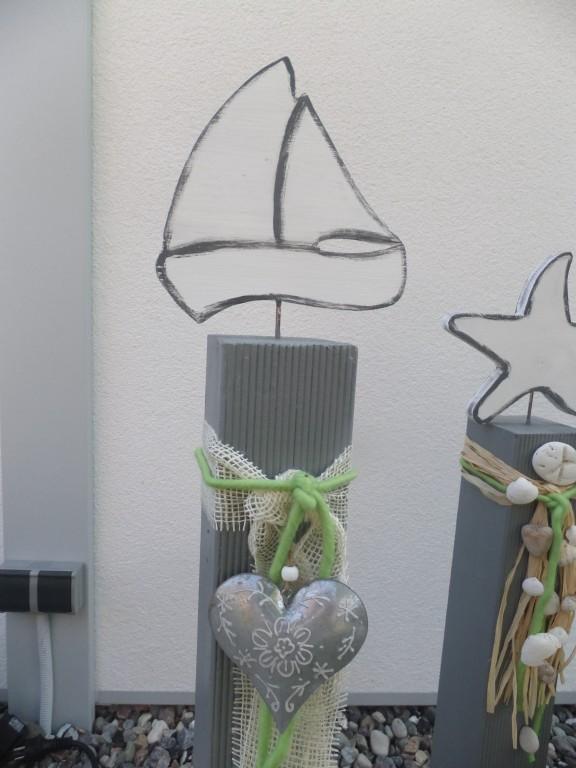 Maritime Gartendeko prinzessinholala diy nähen upcycling gartendeko upcycling diy