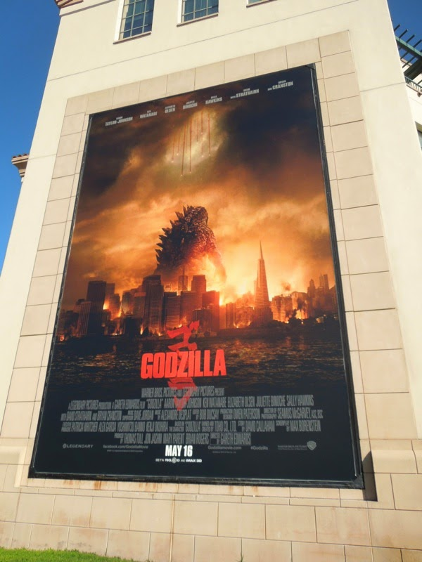 Godzilla movie billboard WB Studios