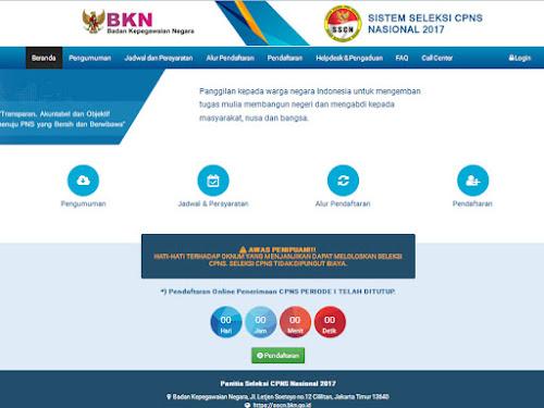 Situs Resmi Penerimaan CPNS 2017