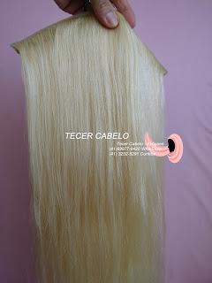 Duas telas de cabelos loiros 62 cm