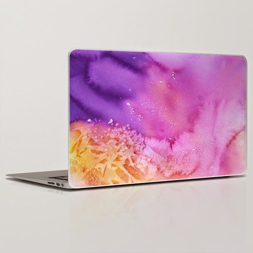 "LAPTOP SKIN 11"" MACBOOK AIR based on Original abstract watercolor by Olga Peregood"