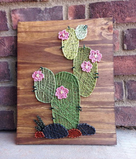 cactus fai da te in string art