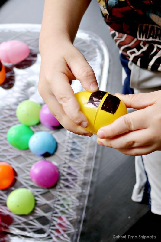 plastic egg shape matching puzzles