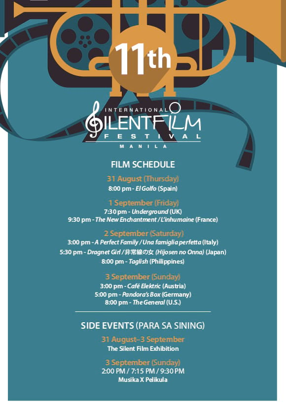 afce940b9 The much-awaited yearly International Silent Film Festival Manila (ISFFM)  is back! Established in 2007 as the very first event of its kind in Asia,  ...