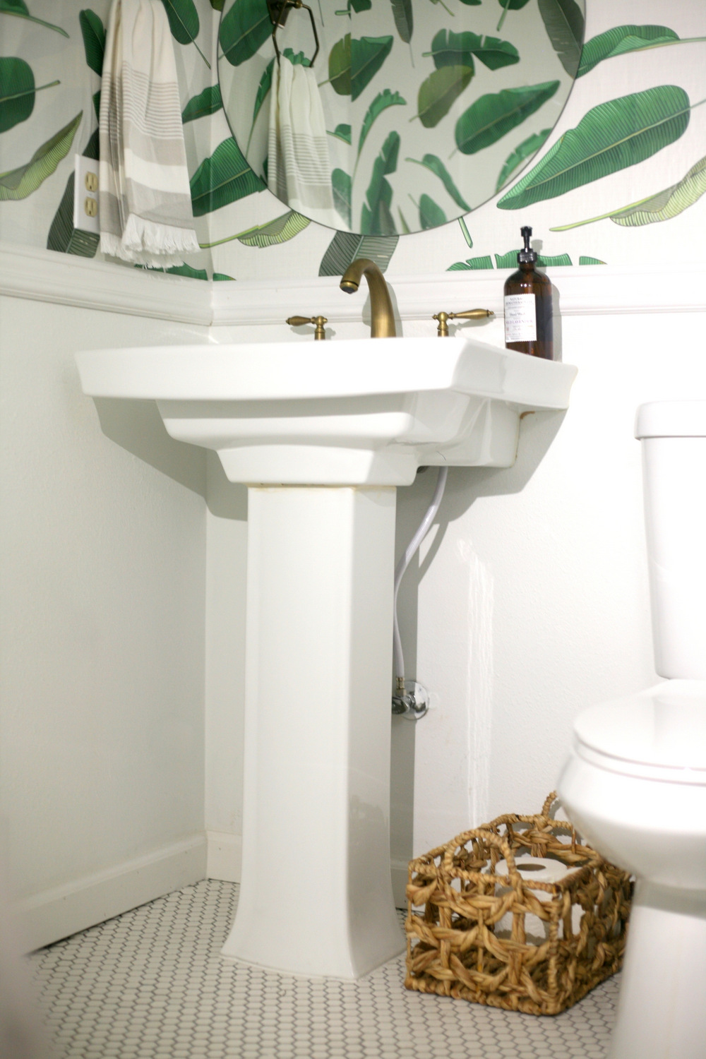 Removable wallpaper in the downstairs powder room and for Discount bathroom wallpaper