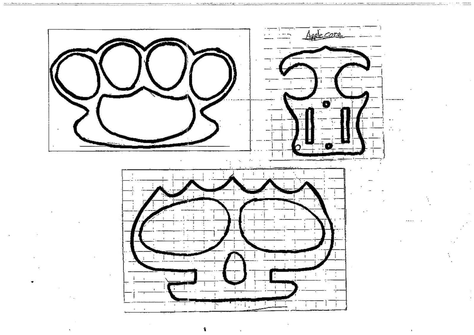 Brass Knuckles Diagram Printable Flower Knuckle Duster Template Make Some Wooden Dusters Free
