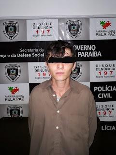 Policia civil de Picuí, prende homem acusado de ter cometido homicídio em Frei Martinho