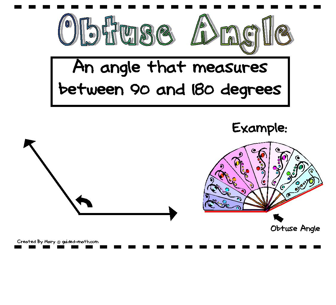 Guided Math: Angle Posters