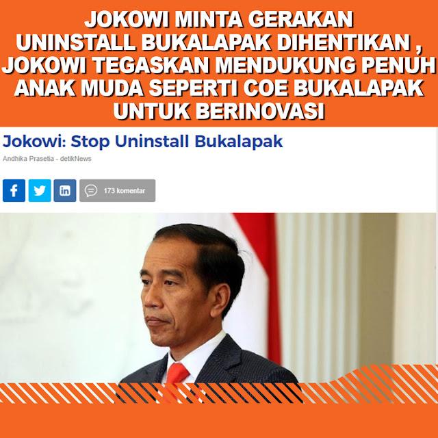 Jokowi: Stop Uninstall Bukalapak