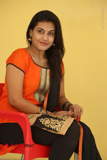 Telugu Actress Chandana Stills in Salwar Kameez at Karam Dosa Movie Press Meet  0067.JPG
