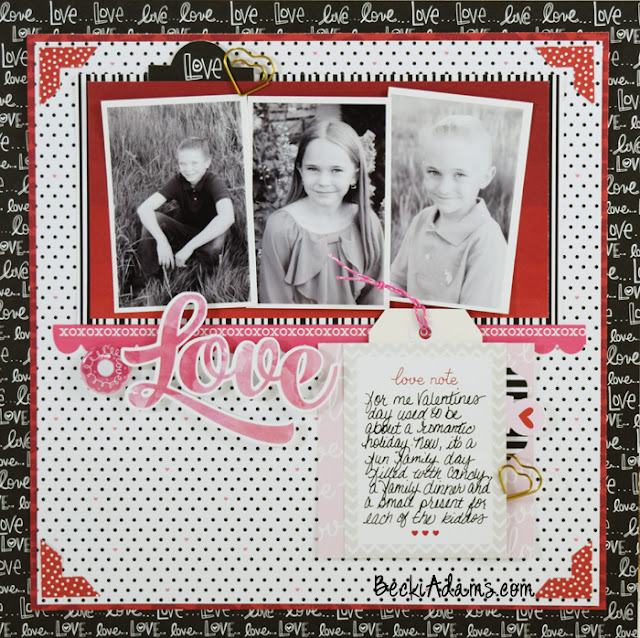 Love by Becki Adams #scrapbooking #processvideo #beckiadams #papercrafting