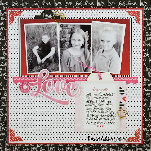 Love by Becki Adams #scrapbooking #processvideo #beckiadams #papercrafting