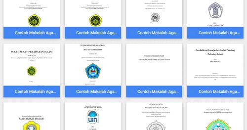 Contoh Makalah Agama Islam Download File Format Microsoft Word Contoh Makalah Docx