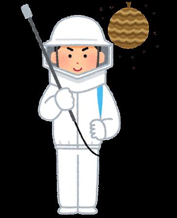 蜂の巣の駆除のイラスト