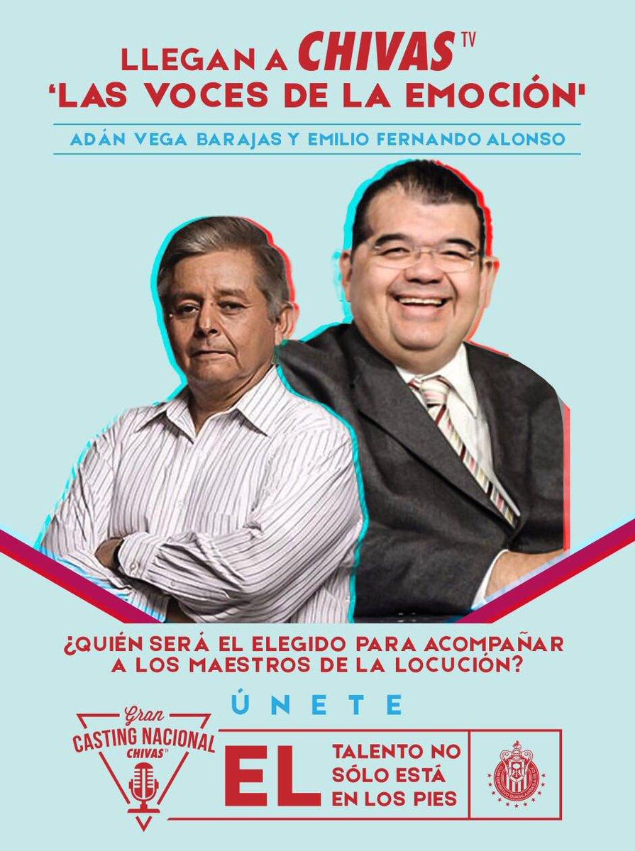 Emilio Fernando Alonso y Adán Vega Barajas, nuevas voces de Chivas TV.