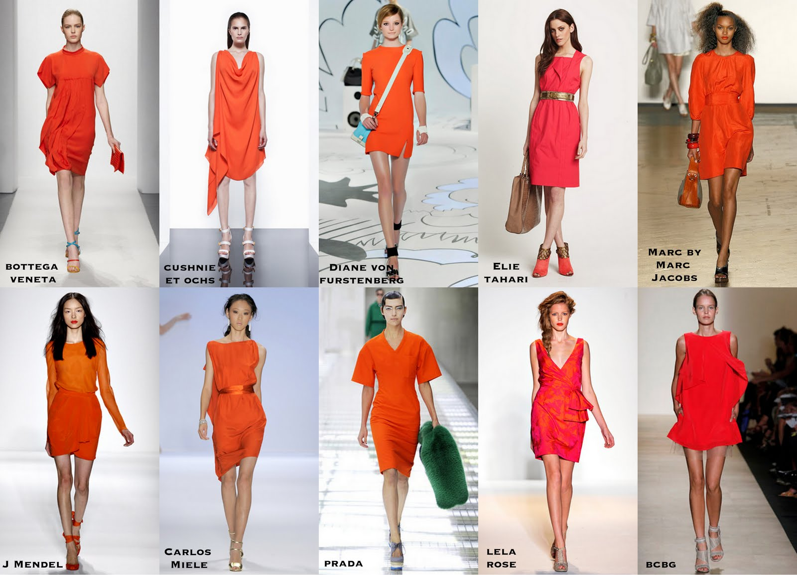 Frills and Thrills  The Orange Dress Trend The Orange Dress Trend