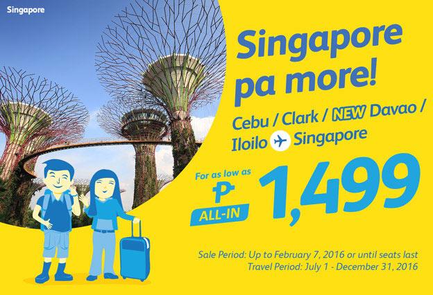Singapore January 2016 Seat Sale Promo