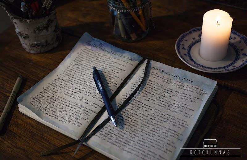 Marraskuun projekti: Kiitollisuuspäiväkirja