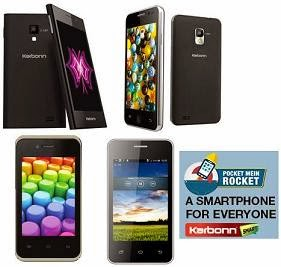 Exclusive Launch 4 Karbon Budget Smart Phone @ Flipkart: Karbon Smart A52 Plus   Karbon Smart A11 Star   Karbon Smart A12 Star   Karbon Smart A50s (Get Flat 50% Off on 8 Gb Memory Card)