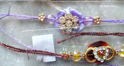 Different rakhis on display during Raksha Bandhan