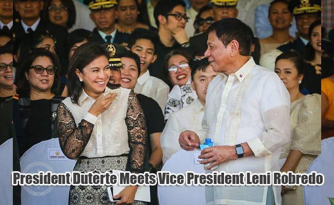 President Duterte Meets Vice President Leni Robredo