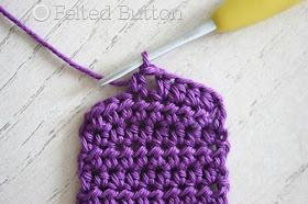 "Scheepjes Catona ""Paper"" Chain (free crochet pattern) by Felted Button"