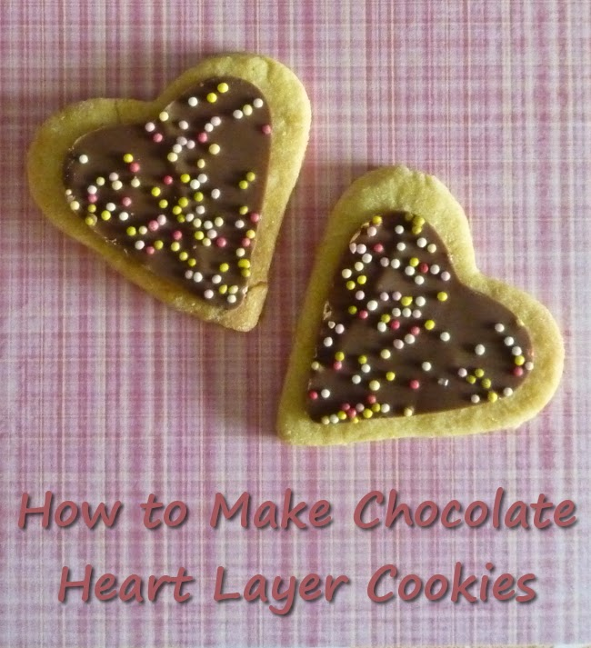 Easy Chocolate Covered Heart Shaped Cookies for Valentines Day