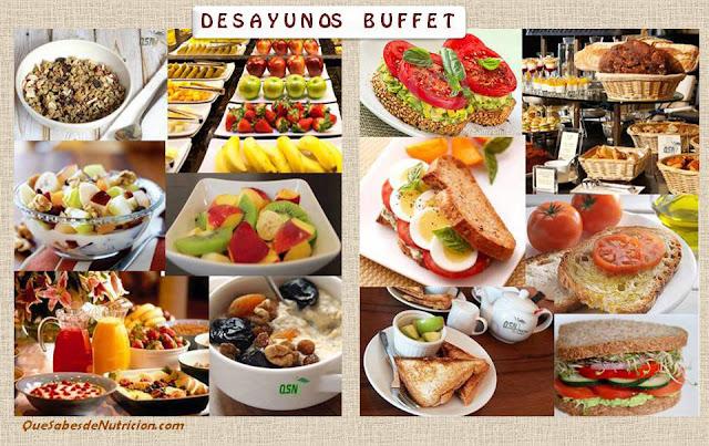 QSN: Ejemplos de desayunos de buffet libre