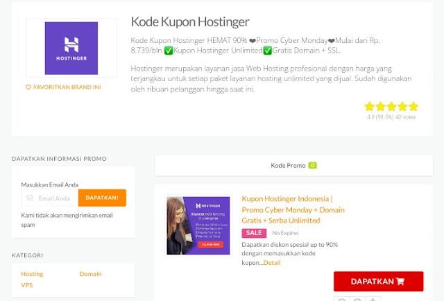 Bagaimana Cara Mendapatkan Kode Promo Hostinger?
