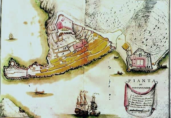 Portovenere map c.1773 Matteo Vinzoni