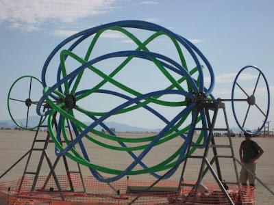 Obra de arte en el desierto de Nevada