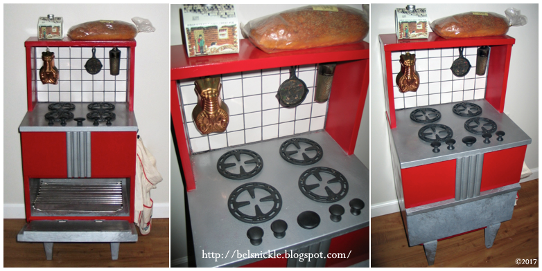 Belznickle Blogspot : Vintage DIY Play Kitchen Stove Top & Oven