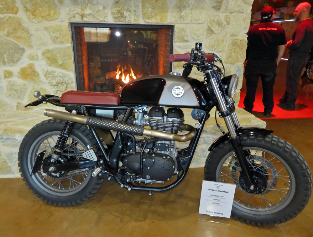 Motorcycle on display.