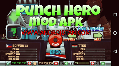 Download Punch Hero Mod Apk Unlimited Money Terbaru 2017