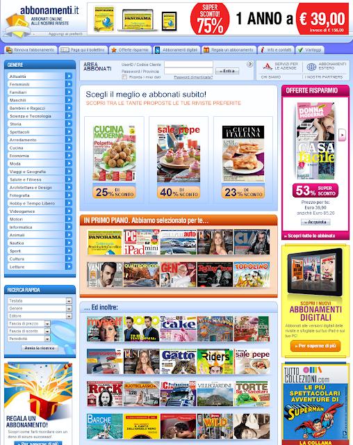 Abbonamenti online alle migliori riviste for Riviste arredamento on line gratis