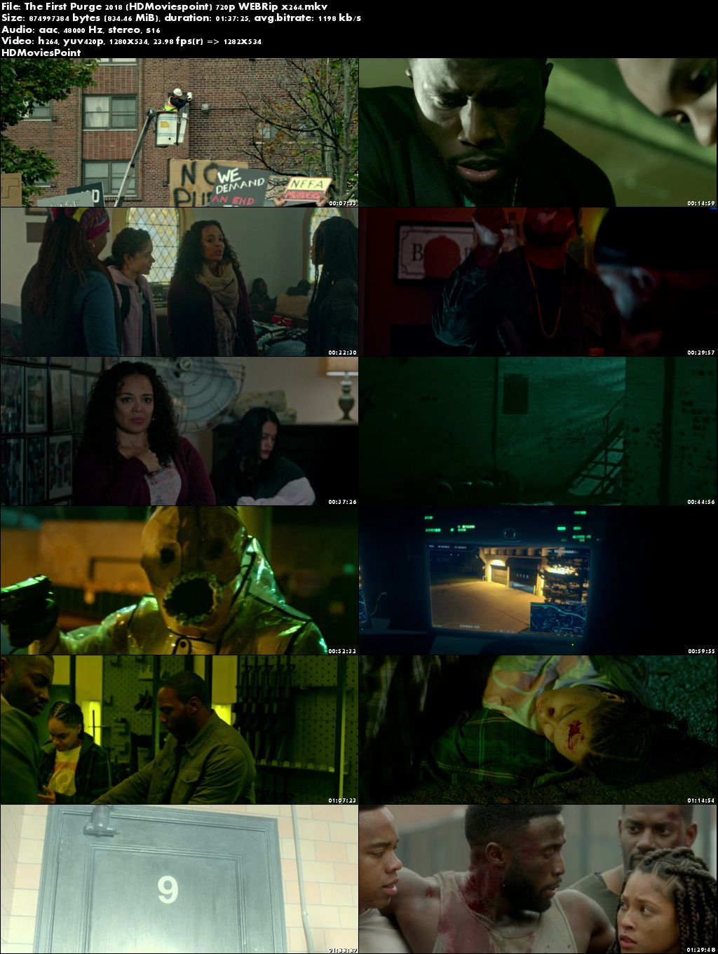 Poster The First Purge (2018) Full English Movie Download HD 720p