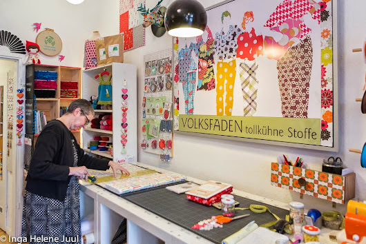 En quiltebutikk i Berlin - A quilting shop in Berlin