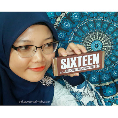 eye shadow, sixteen brickit shadow kit, althea, eye shadow cantik, eye shadow murah althea