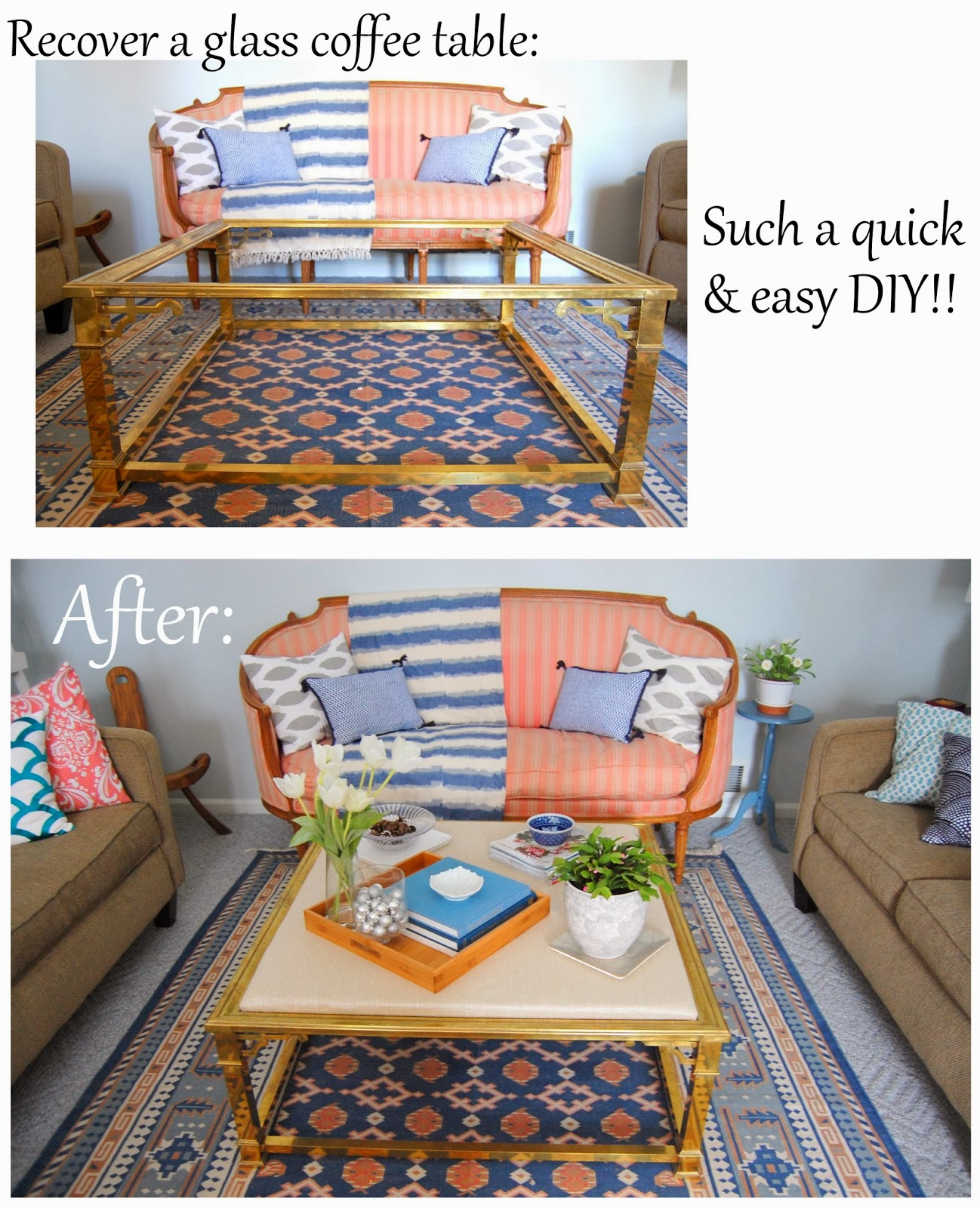 Practically Polished Glass Coffee Table Diy