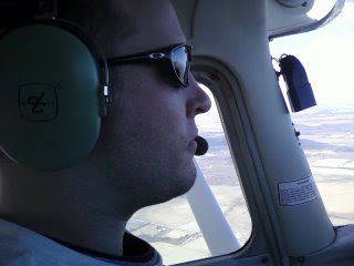Joe Burlas Flying a Cessna 172 Skyhawk above Illinois