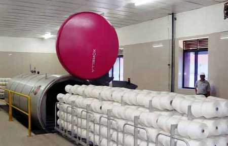 Yarn finishing process (Heat setting)