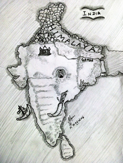 ORIGINAL DRAWING FOR SALE - NEW INDIA