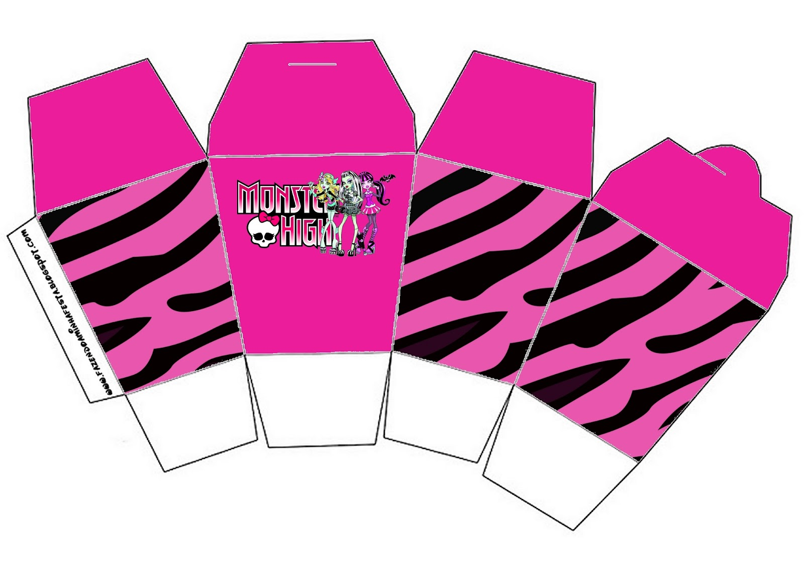 Monster High Party Favor Boxes Free Printables